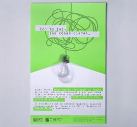 Diseño de cartel Con la luz, las cosas claras