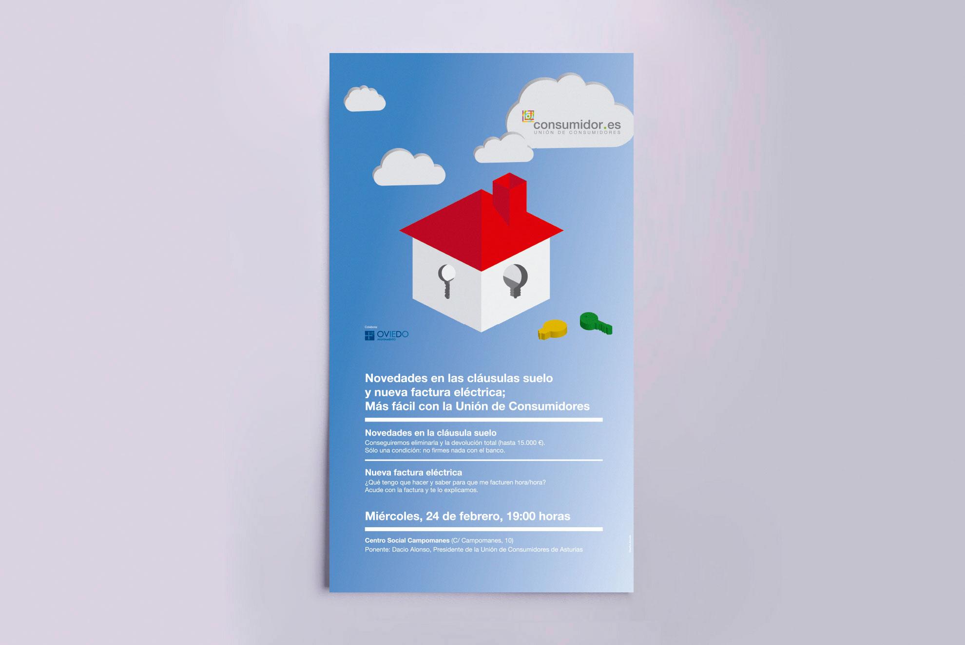 Diseño de cartel para las sesiones informativas de la cláusula suelo