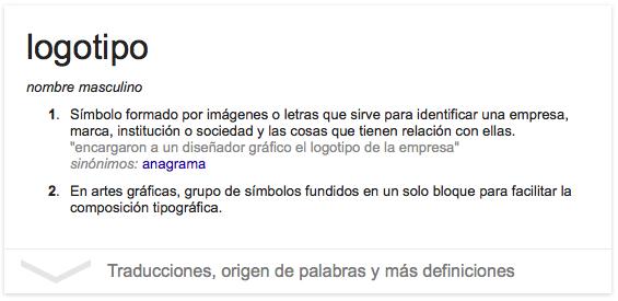 Definición de logotipo según Google