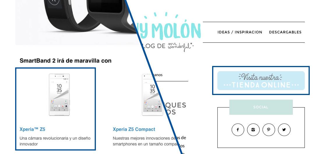 El smartwatch de Sony nos sugiere acompañarlo de un teléfono de la compañía. En el blog Muy Molón, de Mr. Wonderful nos invitan a entrar en su tienda.
